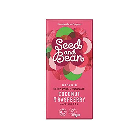 Seed and Bean - Organic Coconut & Raspberry Extra Dark Chocolate Bar - 85g (Case of 8)
