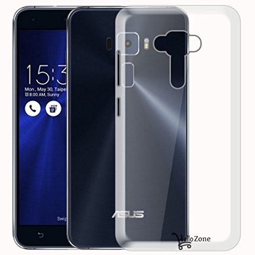 Hello Zone Exclusive Soft Transparent Crystal Clear Back Cover Back Case Cover For Asus Zenfone 3 ( 5.2' inch ZE520KL )
