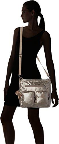 Kipling - Tasmo, Borse a spalla Donna Oro (Metallic Pewter)