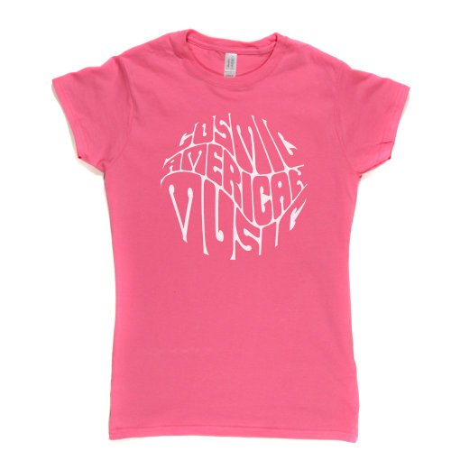 Cosmic American Music Womens Fitted T-Shirt Rosa