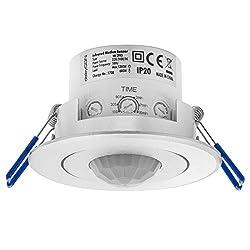 energieeffizient 8m Detektion 3-Draht Technik PIR-Wand-Decken-Bewegungsmelder 360/° f/ür Au/ßen /& Innen LED geeignet IP 65 wei/ß
