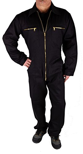 Iwea Stabiler Arbeitsoverall Arbeitskleidung Overall, Schwarz, 56