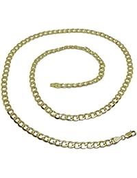 88a2a62464b7 Cadena de Oro Amarillo de 18k barbada para Hombre de 60cm de Larga y 5mm de