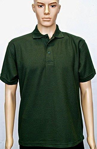 100% Coton Jersey Uni Chemise Polo Manche Courte Sports Loisirs Vêtements De Travail - Blanc, L