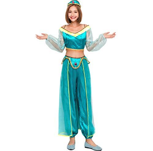 Mitef Aladdin Jasmine Prinzessin Cosplay Kostüm für Halloween - Aladdin Und Jasmine Kostüm