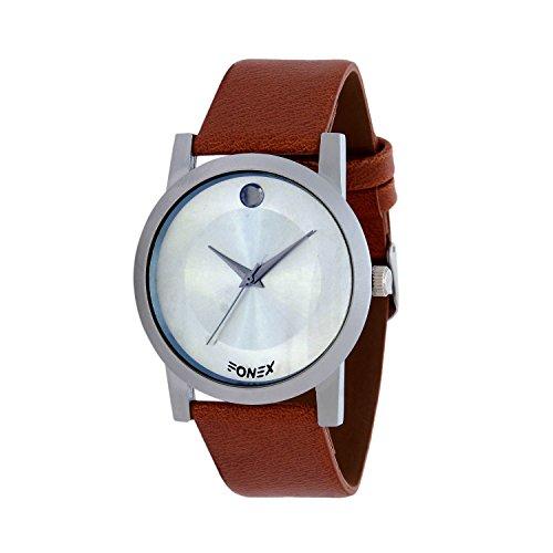 "Fonexâ""¢ New Brand Luxury Men Round Dial Genuine Leather Quartz Watches Hours Clock Military Japan Movement Wrist Watch Heavy Brown - 36003013"