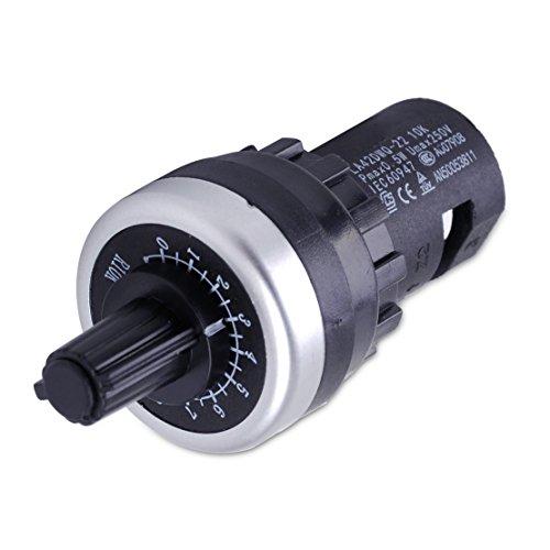 LETAOSK 22mm Drehpotentiometer Pot Inverter Inverter Konverter Widerstand 10K LA42DWQ-22 Regler (Inverter 10k)