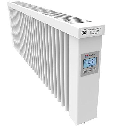 AeroFlow Elektroheizung SLIM 1200 mit Schamottekern app-ready FlexiSmart-Displayregler (Android, iOS) elektrische Zusatzheizung, Nachtspeicher Ersatz, 15 Jahre Garantie, Elektroheizkörper-Heizgerät