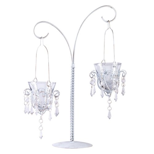 ronleuchter zum Aufhängen Metall Glas Votivkerze Ständer (Mini-laternen Bulk)