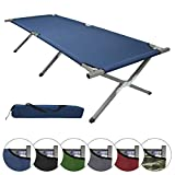 BB Sport Brandina da Campeggio Letto da Campo Pieghevole 190 x 64 x 41 cm caricabile Fino a 120 kg incl. Borsa per Il Trasporto, Colore:Blu