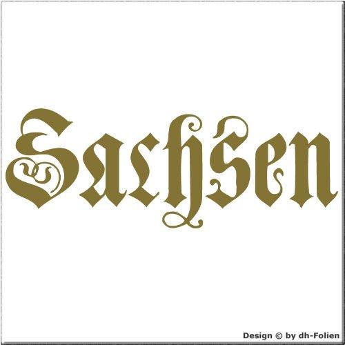 cartattoo4you AK-01599 | SACHSEN - Fraktur / Altdeutsche Schrift | Autoaufkleber Aufkleber FARBE...
