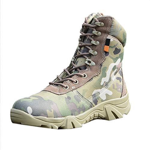 uirend Chaussures Travail Militaires Homme - High Top Militaire pour Homme Tactique Bottes de Randonnée à Lacets Travail Combat Tous Les Terrains Résistante à l'usure Boots