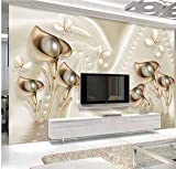 #4: Pearl Flowers 3D Wallpaper Available in All Size for Living room, Bed Rooms, TV Background
