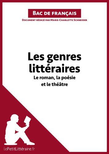 Les genres littéraires - Le roman, la poésie et le théâtre (Fiche de révision): Réussir le bac de français