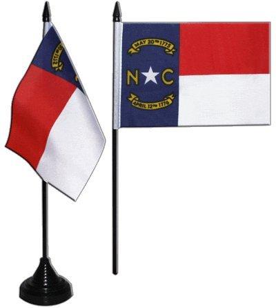 Flaggenfritze® Tischflagge USA North Carolina 10x15 cm