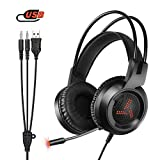 Amicool Gaming Headset für PS4 / Xbox One, W3 Stereo - Bass -...