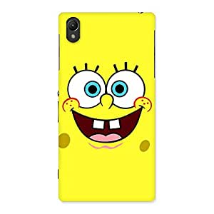Gorgeous Spong Yellow Back Case Cover for Sony Xperia Z1