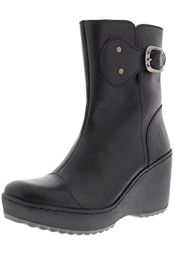 Fly London Womens Morv Leather Boots Schwarz