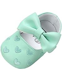 Zapatos de bebé ❤️Xinantime ♡Zapatos Bebe♡ Niña Bowknot zapatos de cuero zapatillas antideslizante suave niño único para 0-18 meses