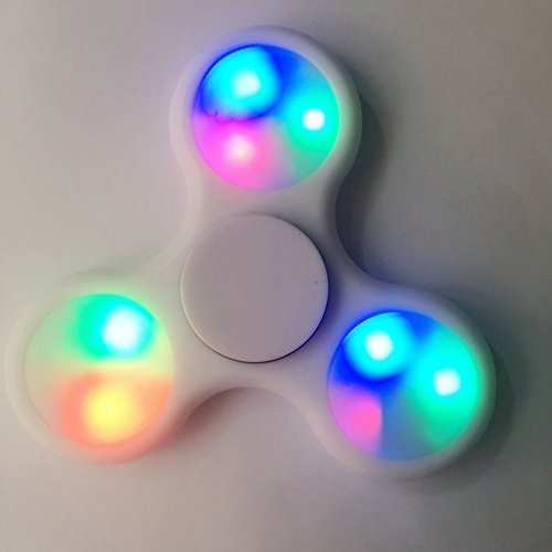 Tri Hand Spinner Stress Reducerper with LED LIGHT per ragazzi e adulti