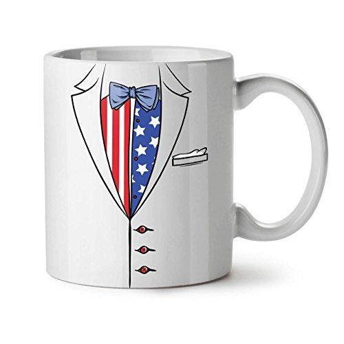 USA Flagge Anzug Mode WeißTee KaffeKeramik Becher 11 | Wellcoda