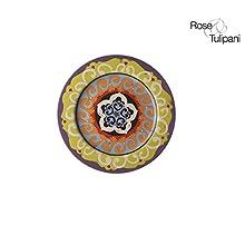 ROSE E TULIPANI R1330024VI Nador Piattino, cm 16.5, Confezione da 6 Pezzi, Viola