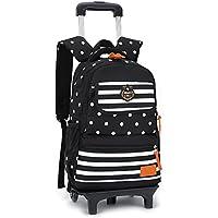 Trolley Bag Cadeaux Rentrée Scolaire Sac à Dos avec roulettes 2 en 1  Cartable Roulette Bagages c2a01476159f