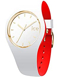 Ice-Watch - Ice Loulou White Gold - Montre Blanche pour Femme avec Bracelet en Silicone - 007239 (Medium)