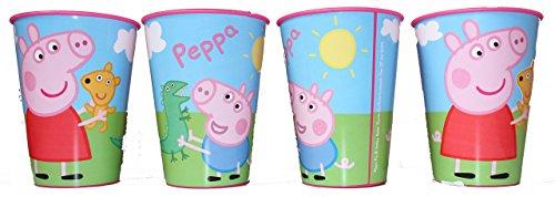Peppa Pig - Juego de 4 Vasos para Zumo, Color Rosa