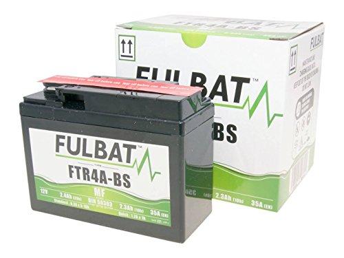 Wartungsfreie 12V Fulbat Batterie FTR4A-BS MF - 12V - 2,3 Ah für HONDA - SFX, SH, SJ, SXR, X8R/SZX - 50 ccm Roller (Pack Sfx)
