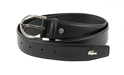LACOSTE Curved Stitched Edges Belt W95 Black
