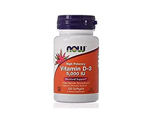 Now Foods, Vitamin D-3, 5,000 IU, 120 Softgels