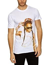 Eleven Paris Marina - Camiseta, con manga corta, con cuello redondo para hombre