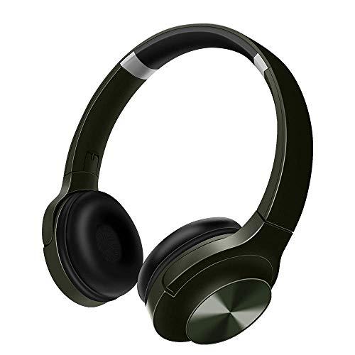 Funwaretech Cuffie bluetooth 5.0 Over ear,Cuffie Bluetooth Senza Fili,Wireless Pieghevole Headphones con Microfono e stereo Hi-Fi Ricaricabile,Cuffia per Mobile Phone/PC/Laptop/TV/Android-blu