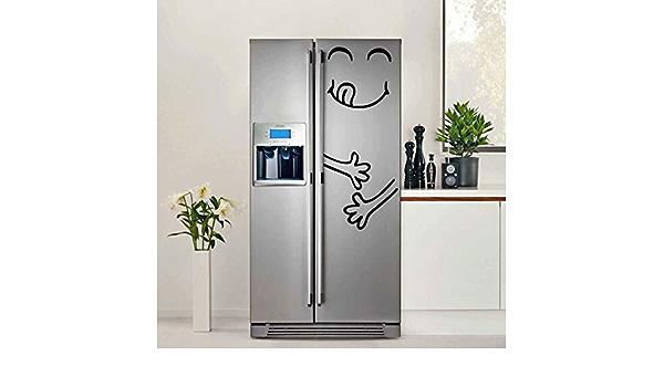 JLZK Adesivo carino frigorifero Happy Delicious Faccia Cucina Frigorifero da parete Adesivi in vinile Adesivo da parete Adesivo Decorazioni per la casa
