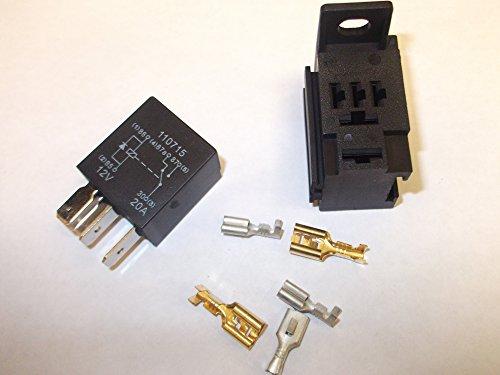 Micro relais 5 broches 12 V 20 A pour voiture avec base