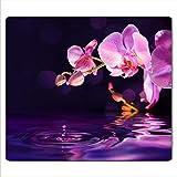 FTB Gsmarkt | Herdabdeckplatte Schneidebrett Spritzschutz 60x52 | Bild auf Glas | Sicherheitsglas Gehärtetes Glas Bild | Motiv Orchidee