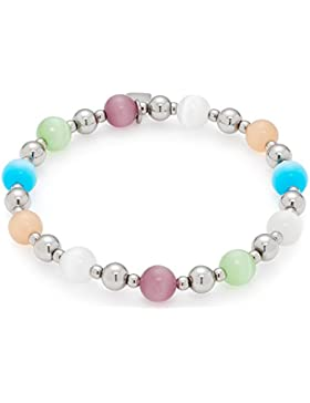 Leonardo Jewels Damen-Armband Sommer Special Euforia Edelstahl Glas mehrfarbig 7 cm - 016302