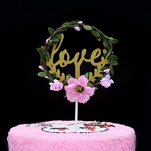 ppy Birthday Cake Top Hat Dekoration Gold Glitter Girlande Geburtstag Hochzeitstorte Dekoration, Braut oder Baby Shower (Color : A004, Size : 50 pcs) ()