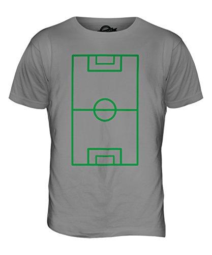 CandyMix Campo Da Calcio T-Shirt da Uomo Maglietta Grigio chiaro