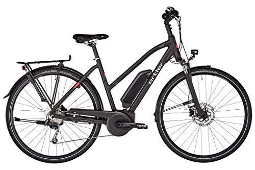 Ortler Bozen Damen Trapez Black matt Rahmenhöhe 50cm 2019 E-Trekkingrad