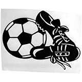 SODIAL Black 14.5 cm * 11 cm Fashion Personality Football Shoes car Stickers Creative a