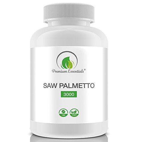 Saw Palmetto 3000, 180 hochdosierte Tabletten, Sägepalmen-Extrakt, für Veganer und Vegetarier geeignet, Premium Qualität nach GMP, HACCP und ISO 9001