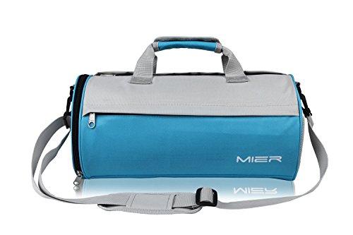 MIER Unisex Sporttasche Kleine Gymtasche Fitnesstasche mit Schuhfach , 2 Größen (S Größe, blau)