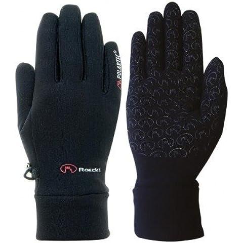 Roeckl guantes de equitación–negro, color negro, tamaño 9