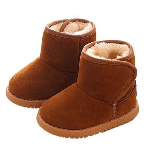 FEITONG Baby Winter Kind Mode Art Baumwoll Schuhe Stiefel Warmer Schnee Stiefel (5 ~ 6 Alter, Khaki) Braun
