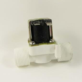 """3/4 """" BSPP 12V DC 2 voies nylon vanne de gaz de l'air de l'eau de la matière plastique de l'électrovanne normalement fermée"""
