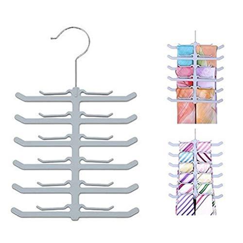 Yardwe Portacravatte da Armadio Portacravatte in plastica per Armadio Cinghia per Cintura Antiscivolo Cravatta per stoccaggio Appendiabiti per Armadio Organizer (Forma per Osso di Pesce)