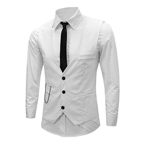 West See Herren Weste Top V Ausschnitt Elegant Brautkleid Anzug Waistcoats Blazer Tweed Armelloses...