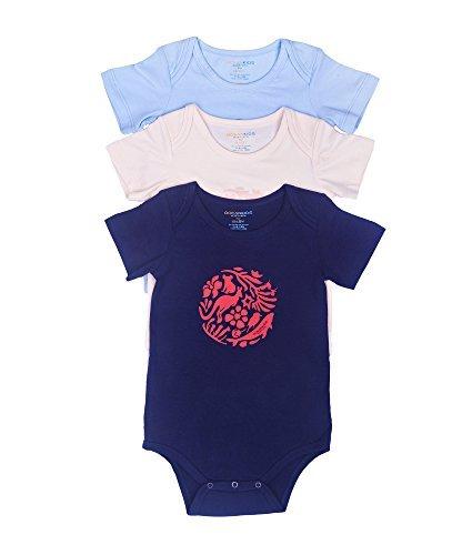 Oceankids Baby Mädchen 'Body Neugeborenes Kleinkind Onesie Kurzarm 3 in 1 9M 6-9 Monate (Harley Davidson Baby Jungen Kleidung)